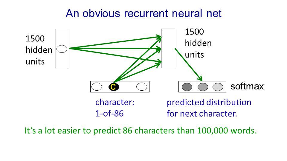An obvious recurrent neural net