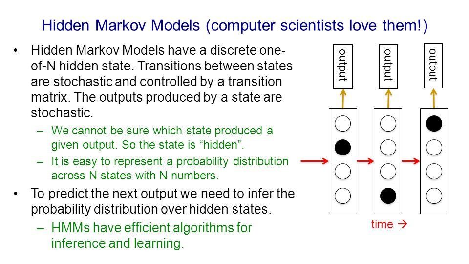 Hidden Markov Models (computer scientists love them!)