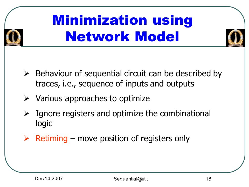 Minimization using Network Model