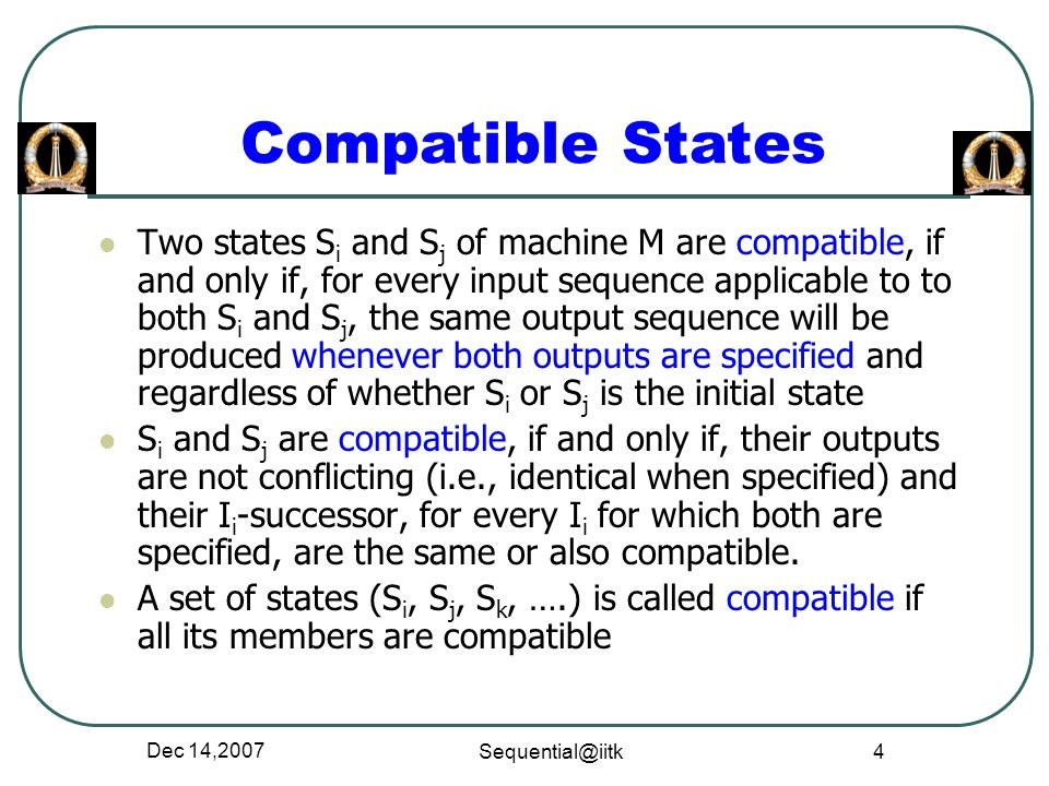 Compatible States