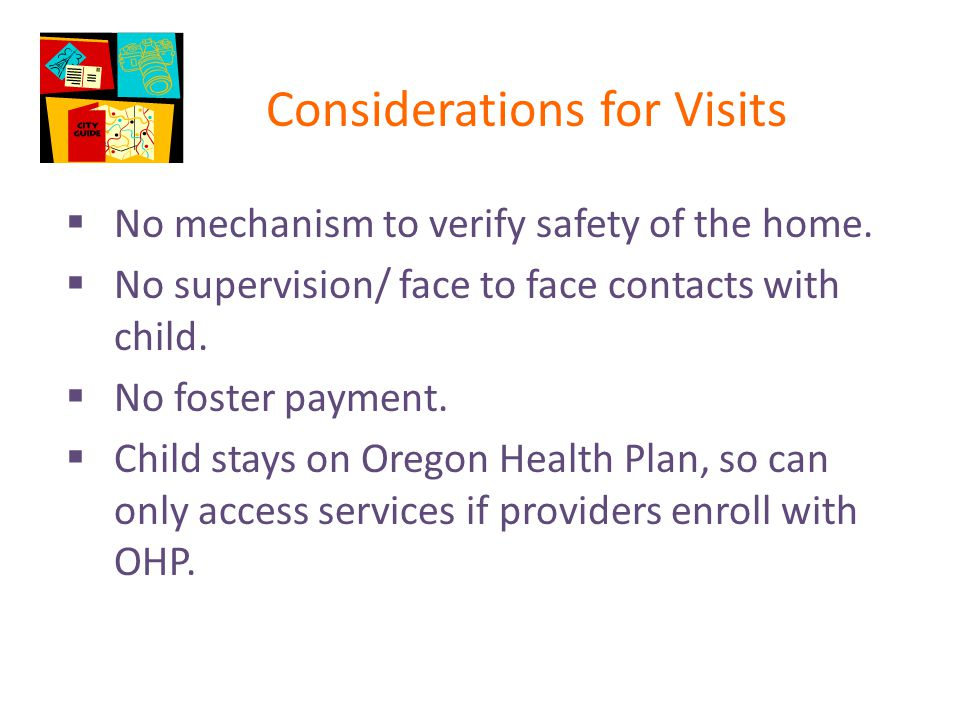 Considerations for Visits