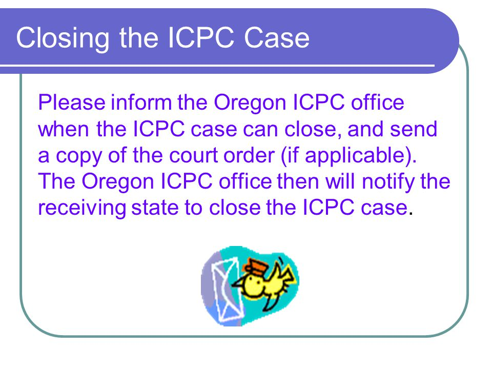 Closing the ICPC Case