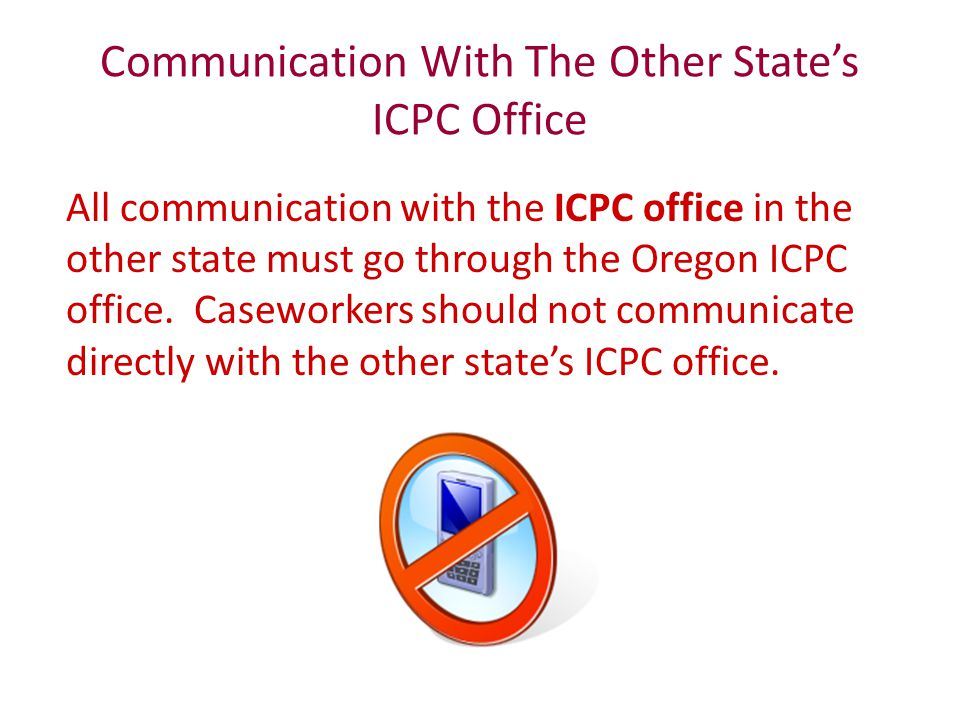 Communication With The Other State's ICPC Office