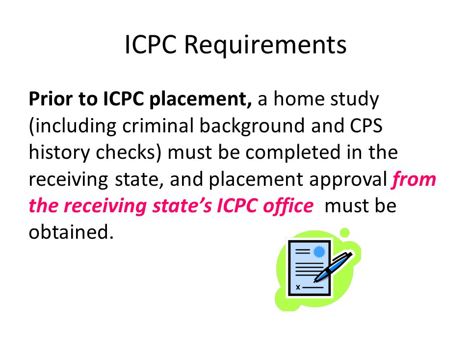 ICPC Requirements