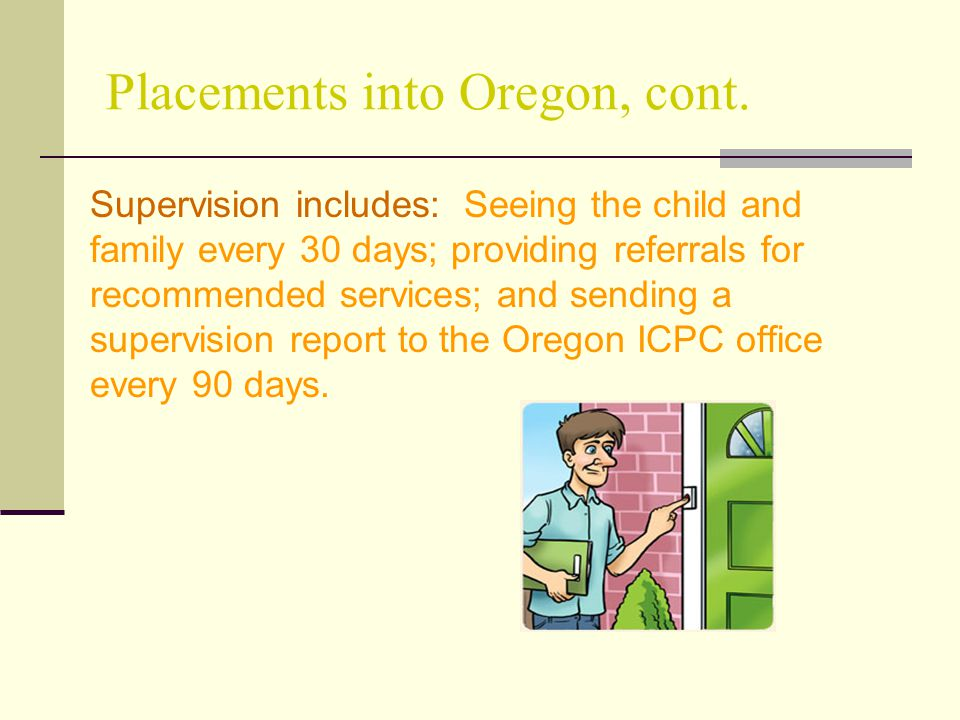 Placements into Oregon, cont.