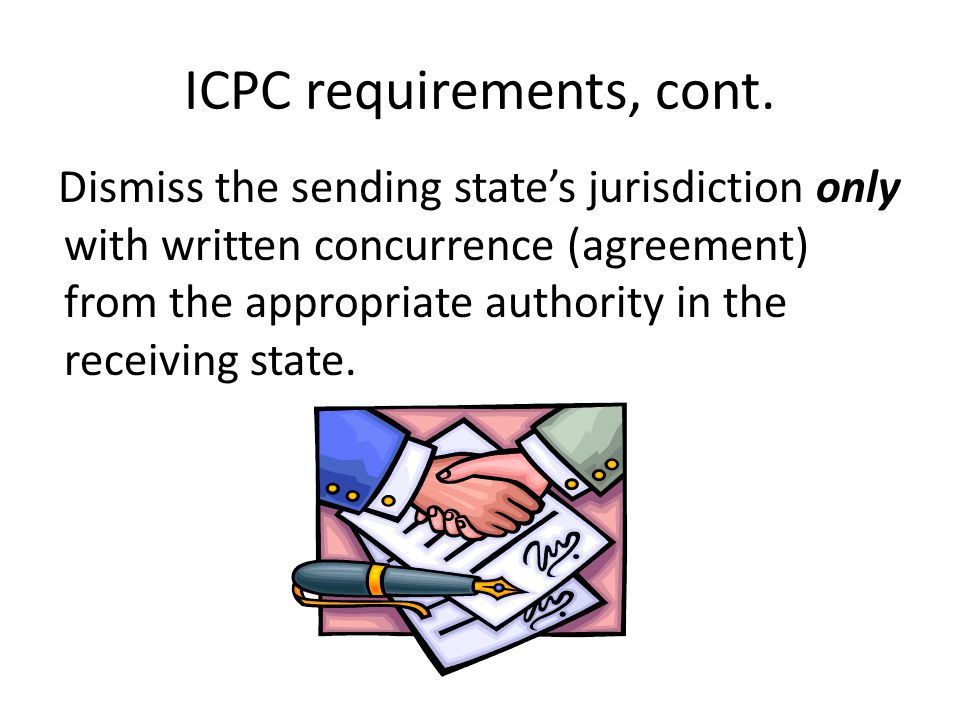 ICPC requirements, cont.