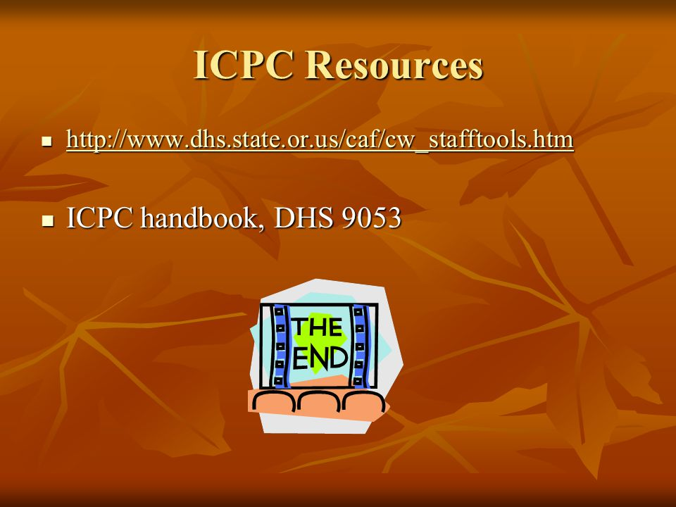 ICPC Resources ICPC handbook, DHS 9053