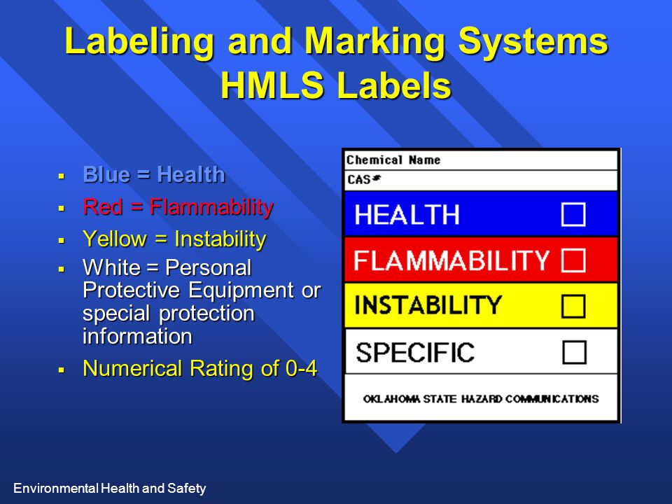 Labeling and Marking Systems HMLS Labels