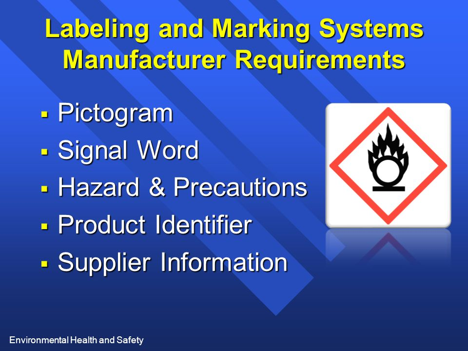 Labeling and Marking Systems Manufacturer Requirements