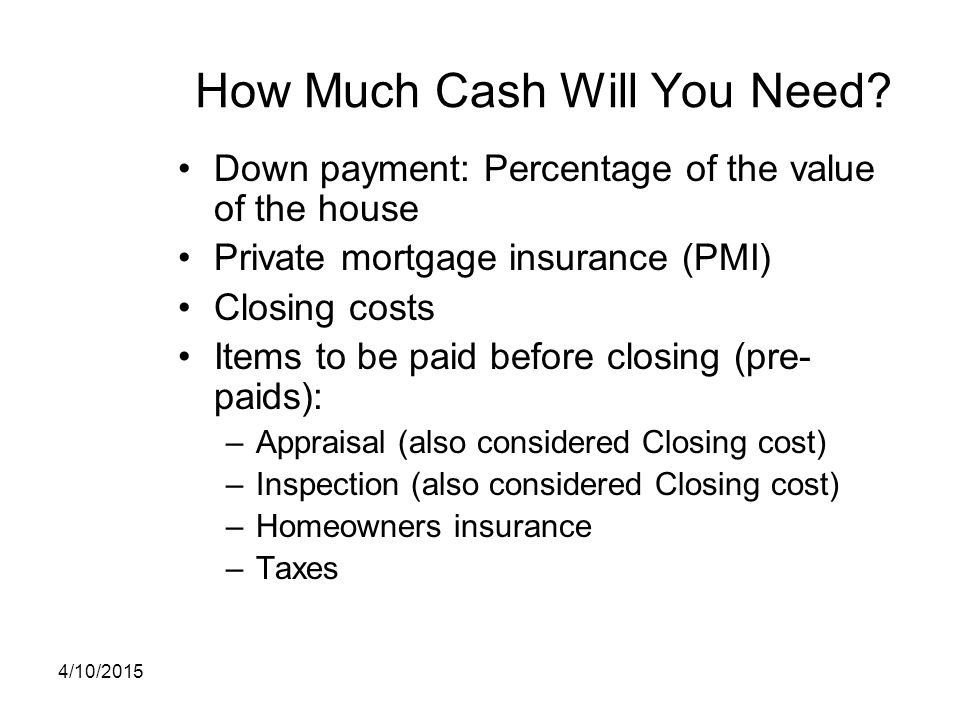 How Much Cash Will You Need