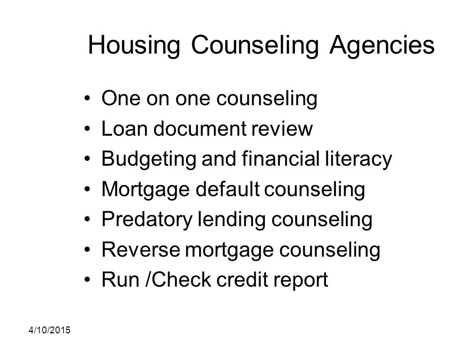 Housing Counseling Agencies