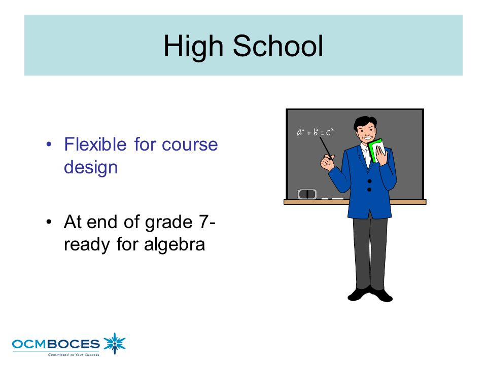 High School Flexible for course design