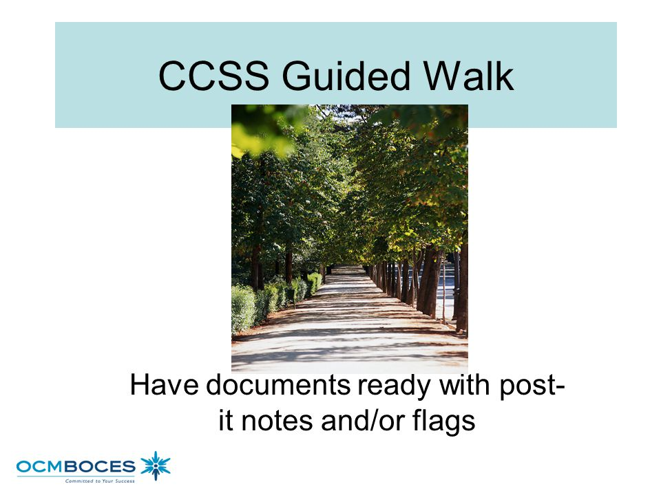 Have documents ready with post-it notes and/or flags