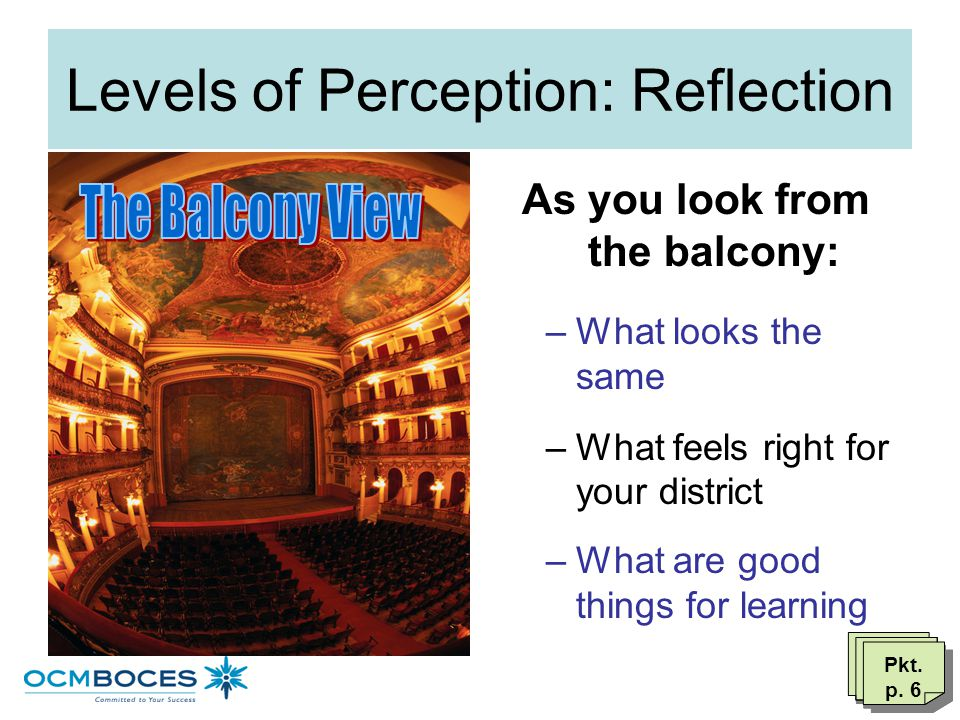 Levels of Perception: Reflection