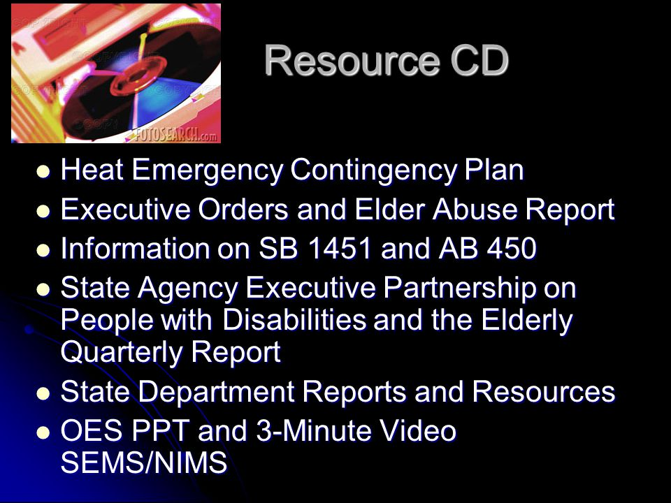 Resource CD Heat Emergency Contingency Plan
