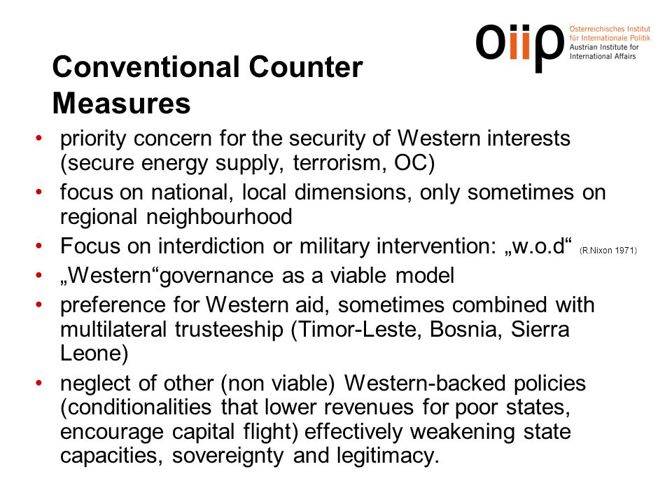 Conventional Counter Measures