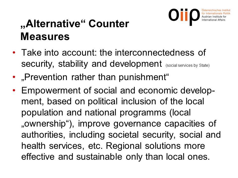"""Alternative Counter Measures"