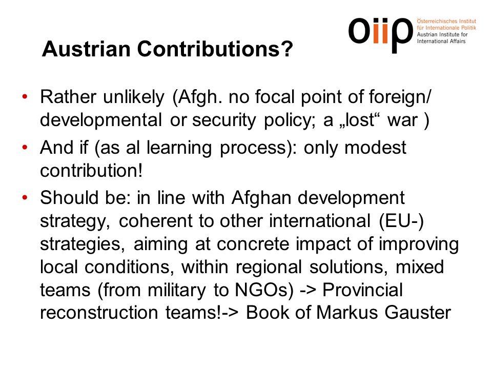 Austrian Contributions
