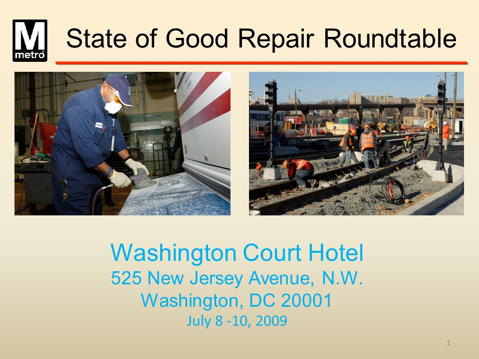 State of Good Repair Roundtable