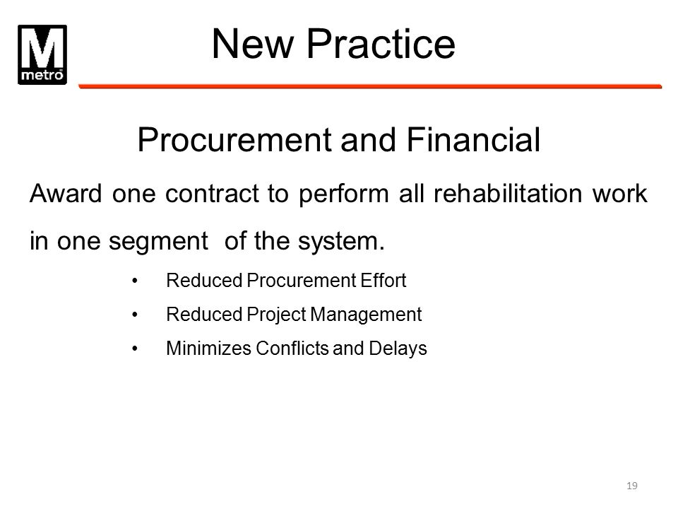 Procurement and Financial