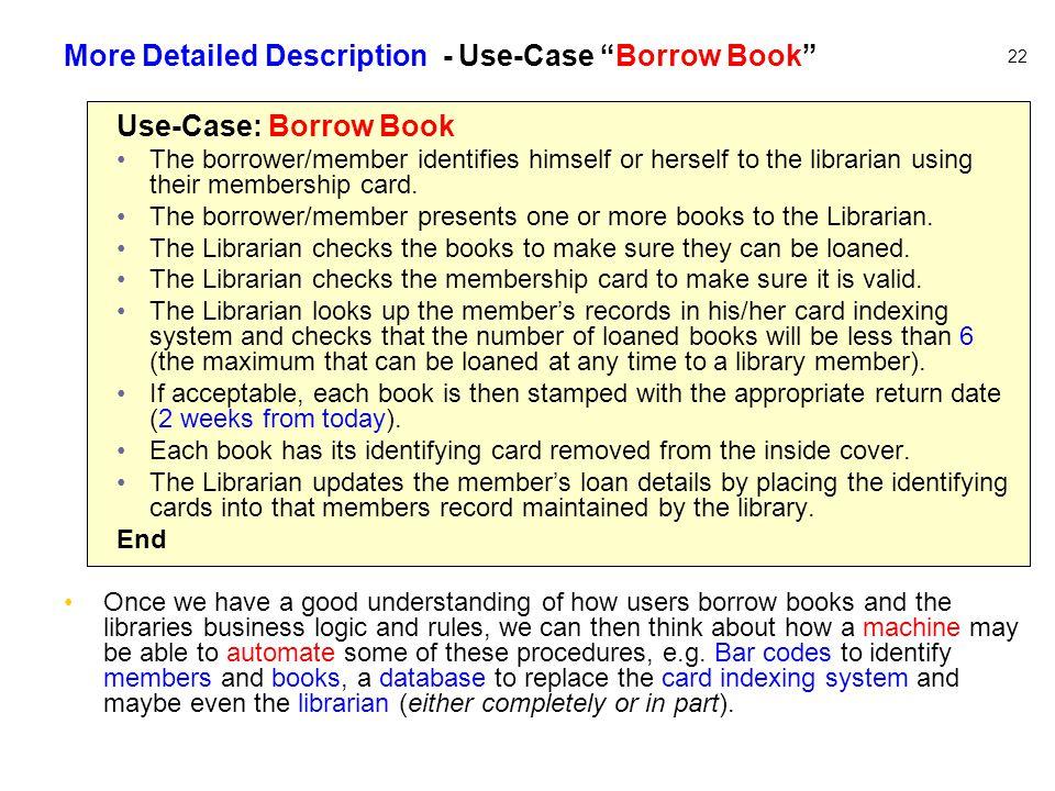 More Detailed Description - Use-Case Borrow Book