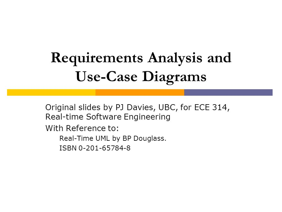 Requirements Analysis and Use-Case Diagrams