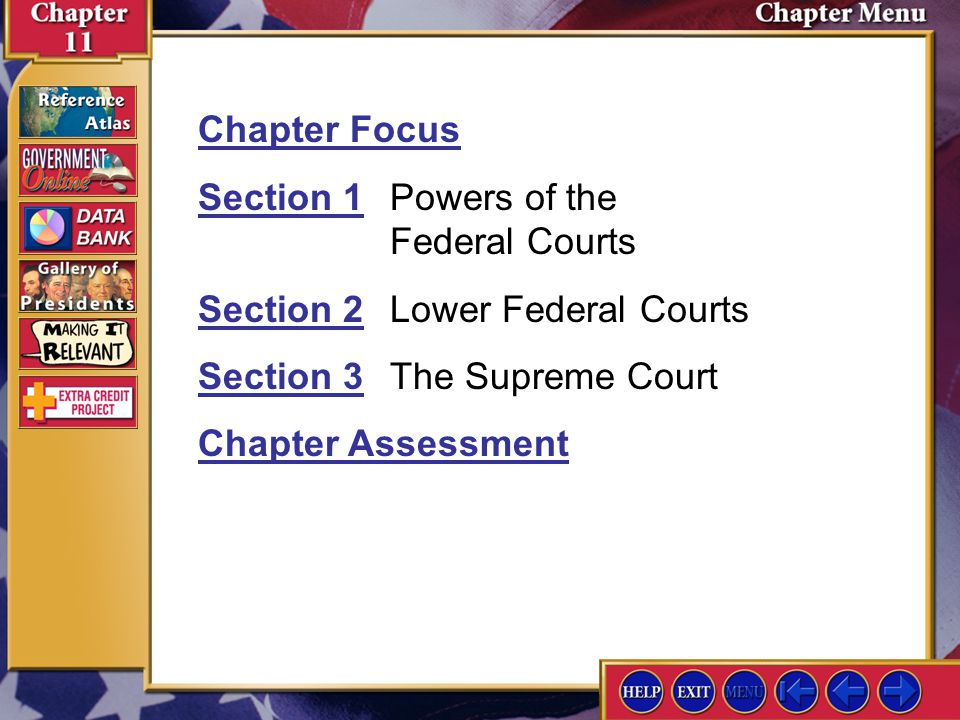 Section 1 Powers of the Federal Courts