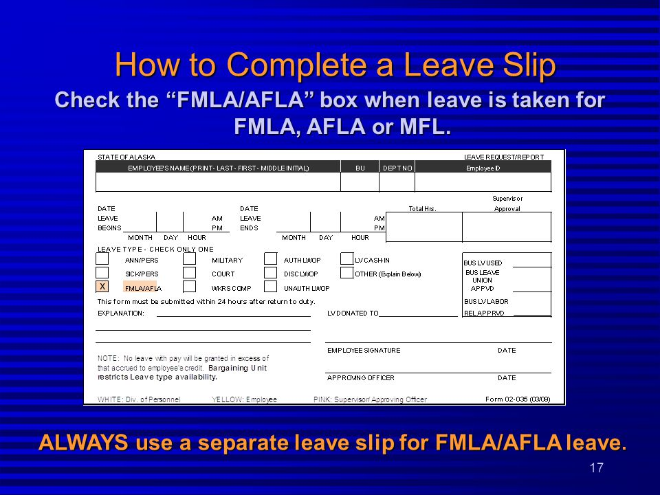 How to Complete a Leave Slip