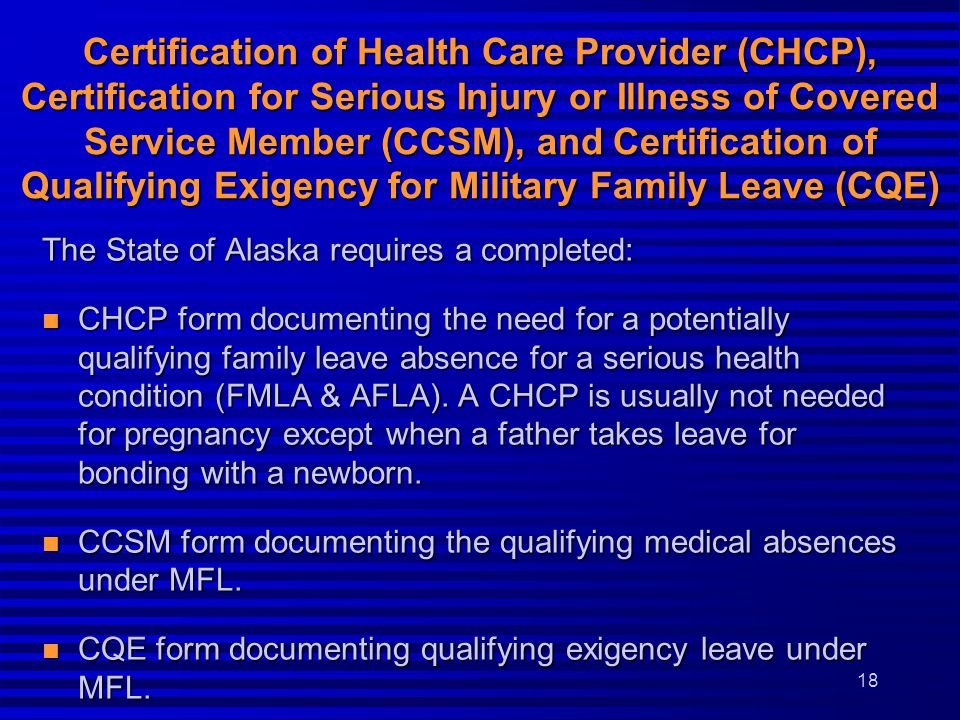 Family & Medical Leave, Alaska Family Leave & Military Family ...