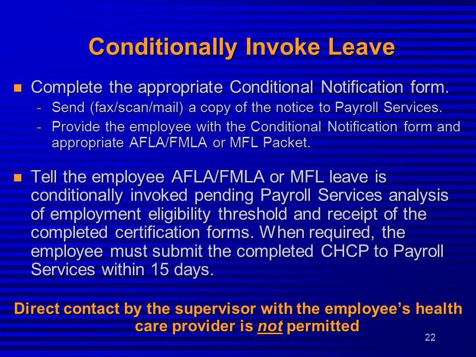 Conditionally Invoke Leave