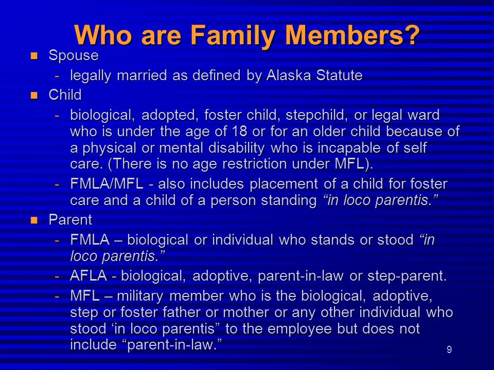 Who are Family Members Spouse