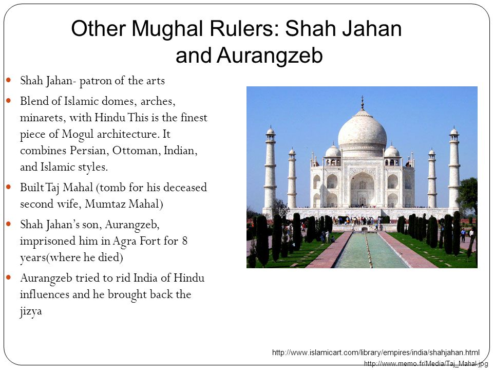 Other Mughal Rulers: Shah Jahan and Aurangzeb