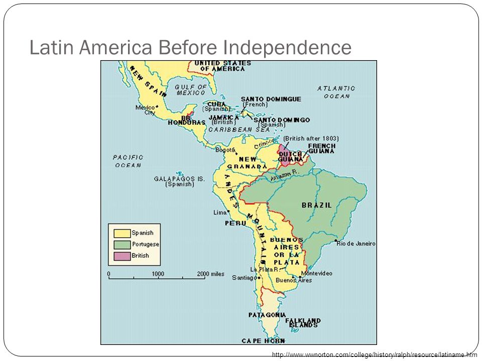 Latin America Before Independence