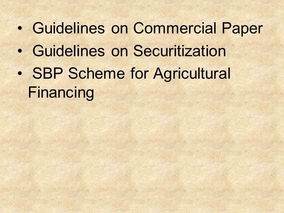 Guidelines on Commercial Paper