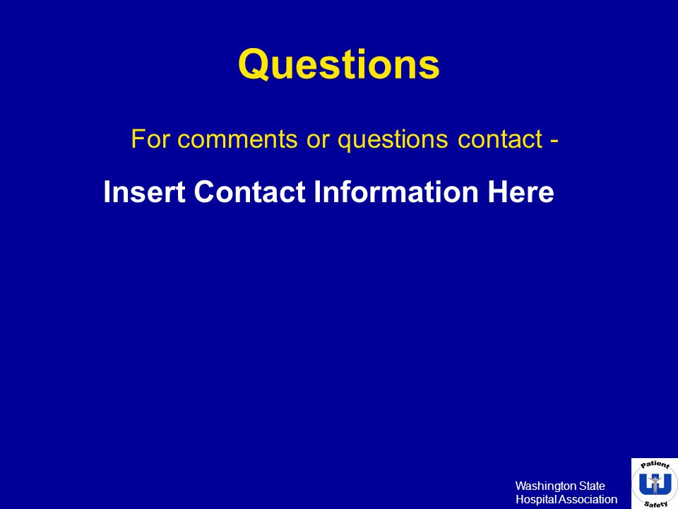 For comments or questions contact -