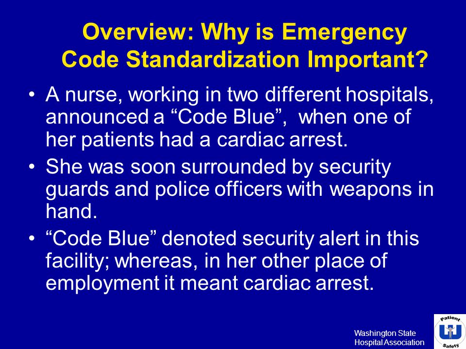 Overview: Why is Emergency Code Standardization Important