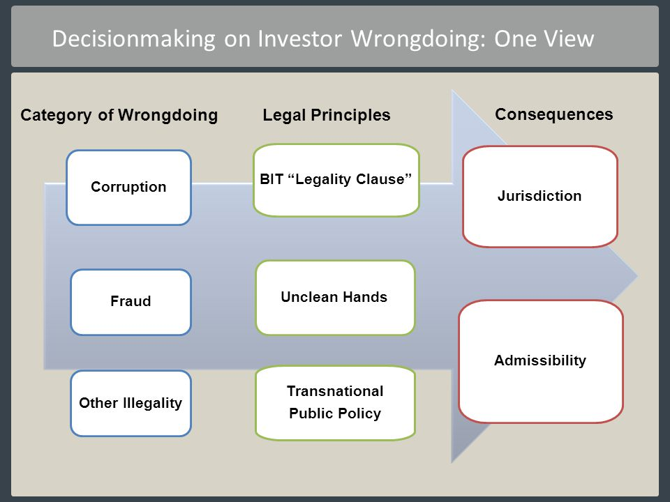 Decisionmaking on Investor Wrongdoing: One View