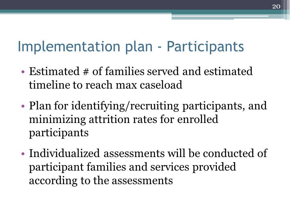 Implementation plan - Participants