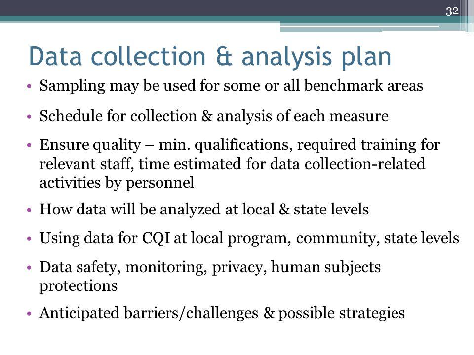 Data collection & analysis plan