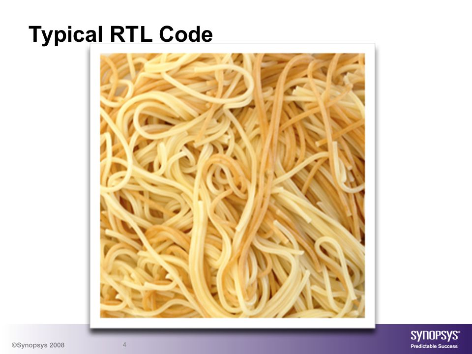 Typical RTL Code