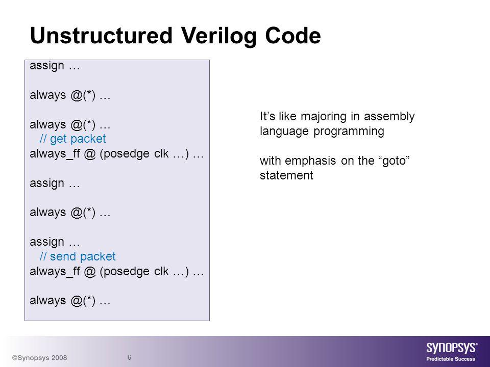 Unstructured Verilog Code