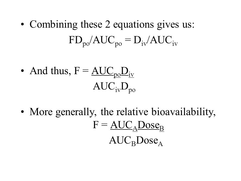 Combining these 2 equations gives us: