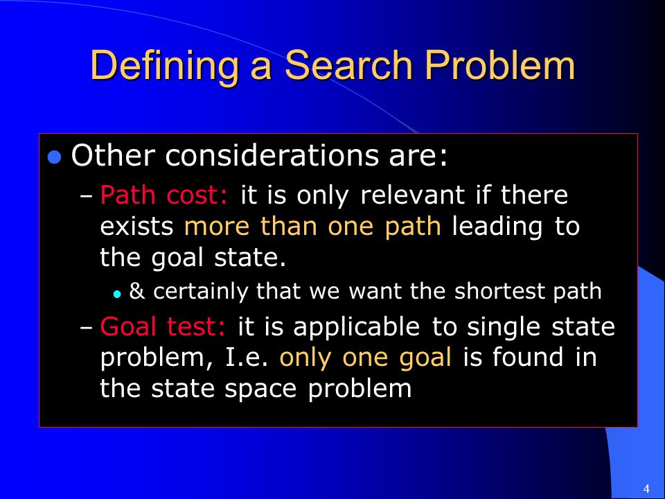 Defining a Search Problem