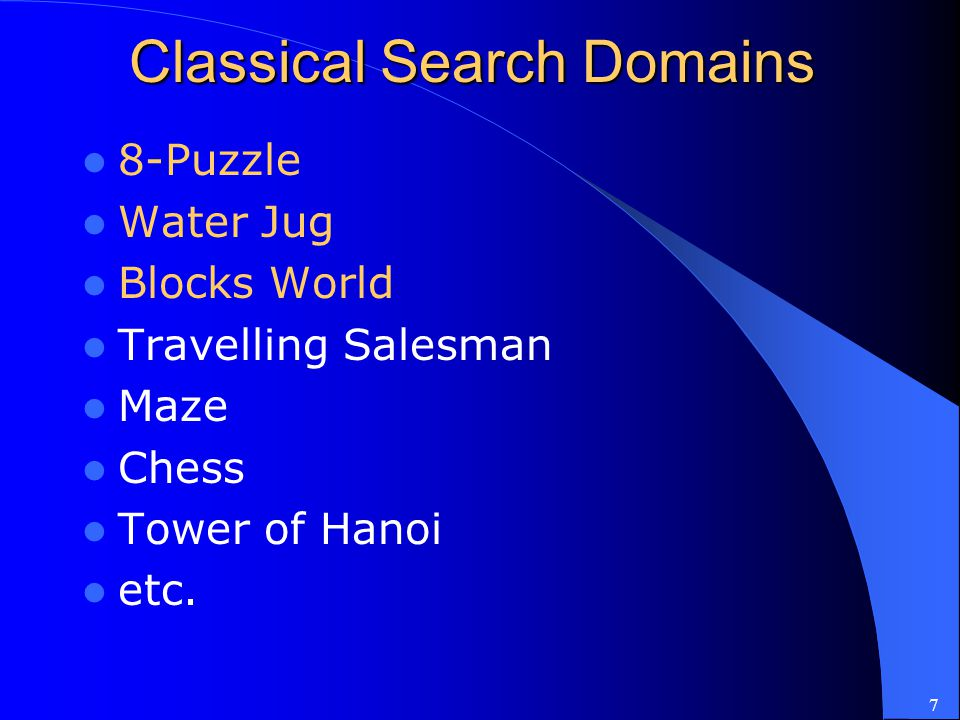 Classical Search Domains