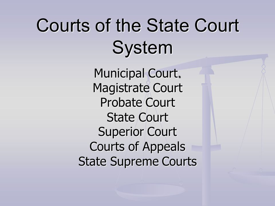 Courts of the State Court System