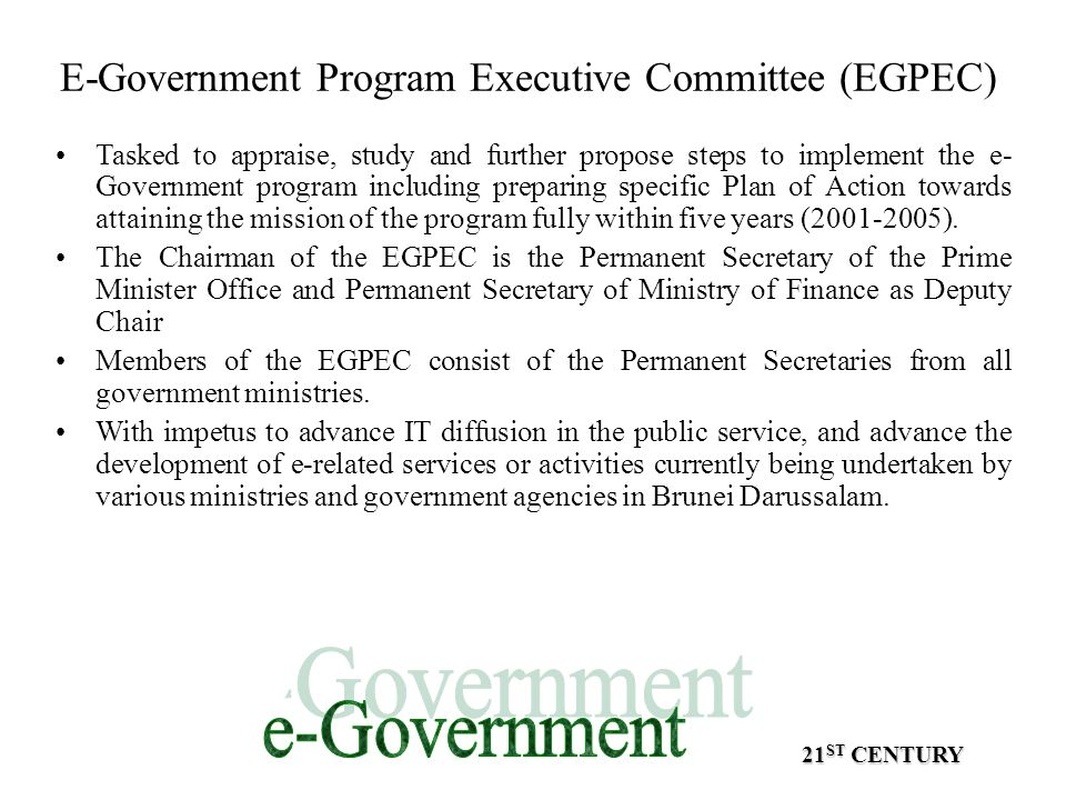 E-Government Program Executive Committee (EGPEC)