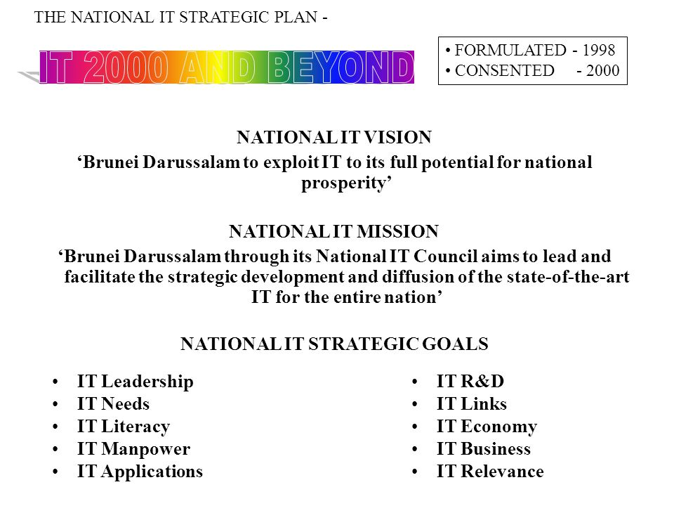 NATIONAL IT STRATEGIC GOALS