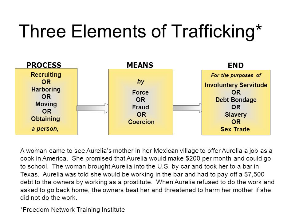 Three Elements of Trafficking*