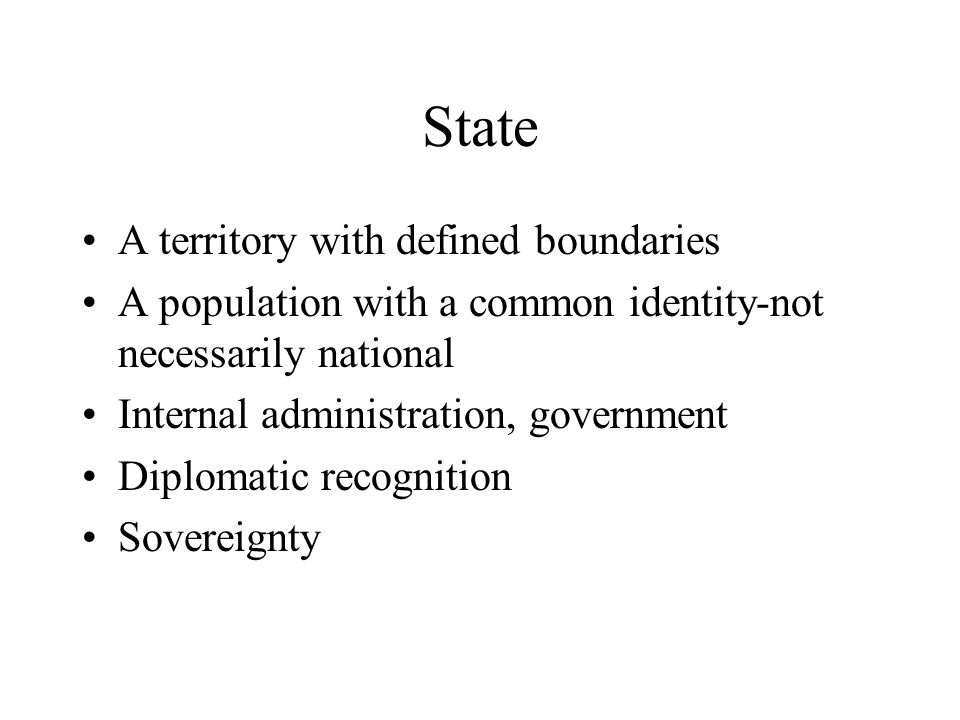 State A territory with defined boundaries