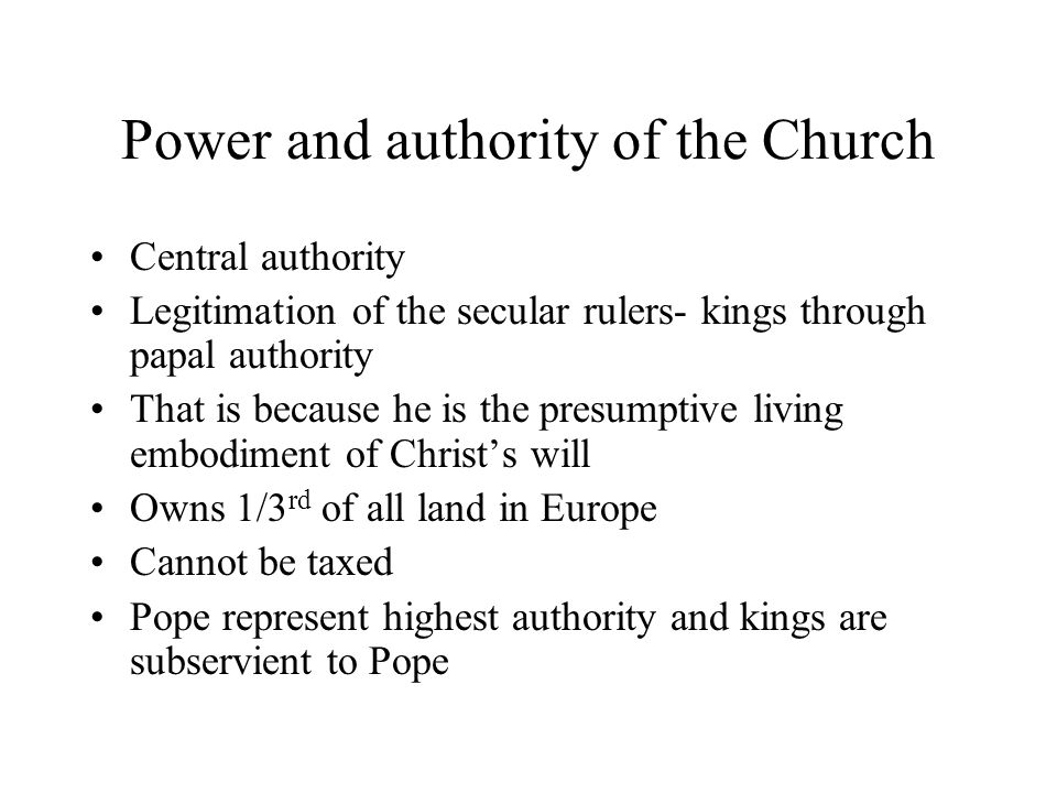 Power and authority of the Church